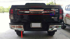CHROME REAR HANDLE LINE TAILGATE COVERS FOR TOYOTA HILUX SR5 REVO M70 M80 2016