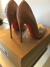Christian Louboutin So Kate Patent Leather Pumps 120mm Size 36 - Nude