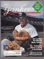 Jim Leyritz 1994 New York Yankees Magazine with Wade Boggs pullout poster