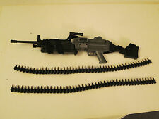 "BBI ELITE FORCE M249 SAW Machinegun For 12"" 1/6th Scale Action Figure w/Extras"