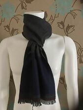 PAUL SMITH SCARF IN BLOCK COLOURS GREY,BLACK AND BLUE SIZE 180cm X 40m BNWT