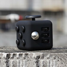 1PCs  Full Black Fidget Cube 6-side Toy Anxiety Stress Attention Relief