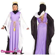 Ladies Queen Snow White Disney Fairytale Fancy Dress Halloween Costume Outfits