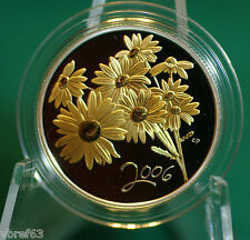 2006 CANADA Golden Daisy 50 cent coin Sterling silver gold plating