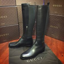 NEW Gucci Black Leather Knee High Boots. Women US size 9 $1,258