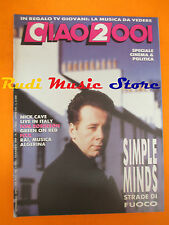 rivista CIAO 2001 19/1989 Simple Minds Nick Cave Tom Robinson Green On Red No*cd