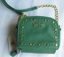 JESSICA SIMPSON GRACIE STUDED HANDBAG SHOULDER CROSS BODY GREEN NWT