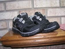NIKE DUAL FUSION ST2 WOMENS 6 USED V-CLEAN BLACK SILVER RUNNERS see pics-details
