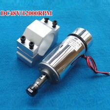 300W Air-Cooled Spindle Motor Engraver Spindle Motor W/ 52mm Mount ER11 12-48VDC