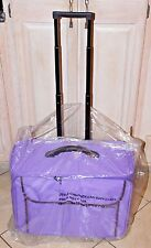Rolling Travel Suitcase for Kids Softside Luggage For Girls/Boys, Purple, NEW