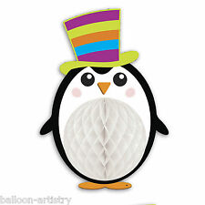 Cheery Christmas Party PENGUIN Honeycomb Character Table Decoration