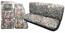 Camo Front Bench Seat Cover Floor Mats Forest Gray Pickups For Ford F-Series