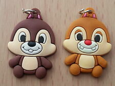 PACK 2 - CHIP N DALE CHIPMUNKS  LOOM BAND CHARMS  bracelets DIY   **UK SELLER**