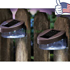 Outdoor Garden Solar Powered Pathway Wall 2 LED Landscape Fence Light Lamp OY
