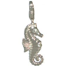Charm Anhänger Seepferd aus 925er Silber für Bettelarmband und Kette