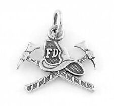 STERLING SILVER FIRE DEPARTMENT HAT CHARM/PENDANT