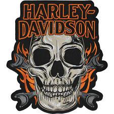 """Harley-Davidson Aufnäher/Emblem """"SKULL MOUTH"""" Patch Skull  *EM196667* groß"""