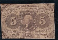 Banknote 1862 United States of America 5c Washington fractional currency repair