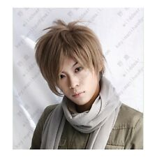 linen Gray New Short Cosplay Party Wig Fashion Wig Hair