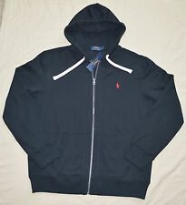 New 2XLT 2XL TALL POLO RALPH LAUREN Mens Fleece Hoodie Jacket black  2XT hoody