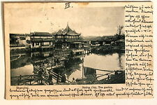 24654 PC Postcard China Shanghai Native City tea garden 1902 AK Tee Garten