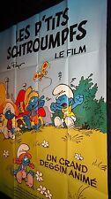 LES PTIT'S SCHTROUMPFS  ! affiche cinema bd animation peyo