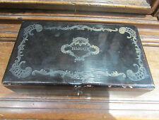 ancienne  boite coffret a bijoux bois noirci epoque 19 eme napoleon 3