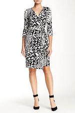 Diane von Furstenberg Feather Leopard Black New Julian Two Wrap Dress M 8 $398