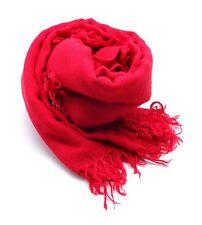 """CHAN LUU Beautiful Crimson Red CASHMERE & SILK SOFT SCARF Shawl Wrap 62"""" x 58"""""""