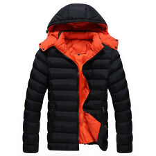 Hot Men Korean winter Casual Snow Jacket thick coat hooded padded outwear Parka