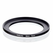 RISE(UK) 58-72MM 58 MM- 72 MM 58 to 72 Step Up Ring Filter Adapter
