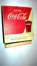 "OLD Vintage ""Drink COCA-COLA""""COKE Puts You At Your Spark matchbook MADE IN USA"