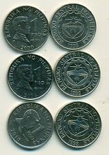 3 DIFFERENT 1 PISO COINS from the PHILIPPINES (2000, 2004 & 2010),