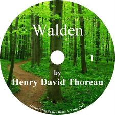 Walden by Henry David Thoreau a Classic Audiobook of Nature and Man on 1 MP3 CD