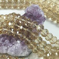 36 pcs 12mm Chinese Crystal Glass Beads Faceted Rondelle Light Smoky Quartz