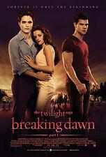 Impresión de película Enmarcado-la saga de Twilight Breaking Dawn Parte 1 (Imagen Arte Cartel)