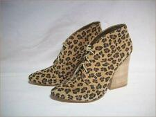 MATT BERNSON Leopard Print Lace Up Ankle Boot  Women's Size 9M - NEW in BOX