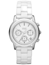 BRAND NEW DKNY NY8313 WHITE CERAMIC & SILVER TONE CHRONOGRAPH WOMEN'S WATCH