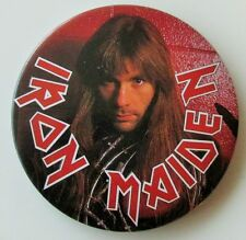 IRON MAIDEN BRUCE LARGE VINTAGE METAL PIN BADGE FROM THE 1980's OLD RETRO