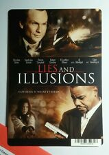 LIES AND ILLUSIONS SLATER GOODING JR SCH MINI POSTER BACKER CARD (NOT a movie )