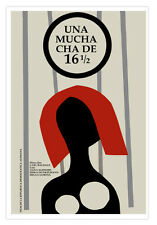 """Cuban movie Poster for German film""""A girl of 16 1/2 years.Redhead MUCHACHA.Art"""