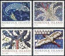 Norfolk Is 2009 Mosaics/Bird/Fish/Flower/Tree/Ceramics/Art 4v set (n22789)