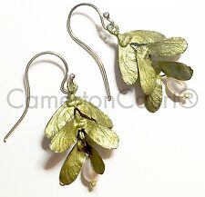 Japanese Maple 3 Drop Wire Earrings by Michael Michaud - Exclusively Ours!