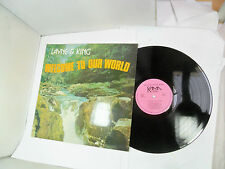 LAYNE & KING WELCOME TO OUR WORLD SIGNED COPY LP VINYL