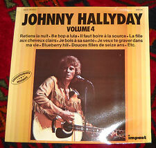JOHNNY HALLYDAY VOLUME 4 VINYL LP RECORD NEAR MINT IMPACT LABEL made in France