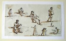 GERMANY FIGURE STUDIES ON THE WALCHENSEE(3) SEPIA OBERNACH C1810