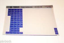 Microfich Ersatzteilkatalog Yamaha XC 125 ab 1990 Stand 11/1989