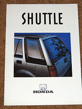 1986-87 HONDA SHUTTLE 4WD & 2WD Brochure - Mint Condition!