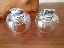 Mid-Century Chrome and Glass(Pair) Nesor Table Lighters...Baughman/Eames Era