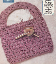 Crochet Pattern ~ Ladies CLUSTER STITCH PURSE ~ Instructions